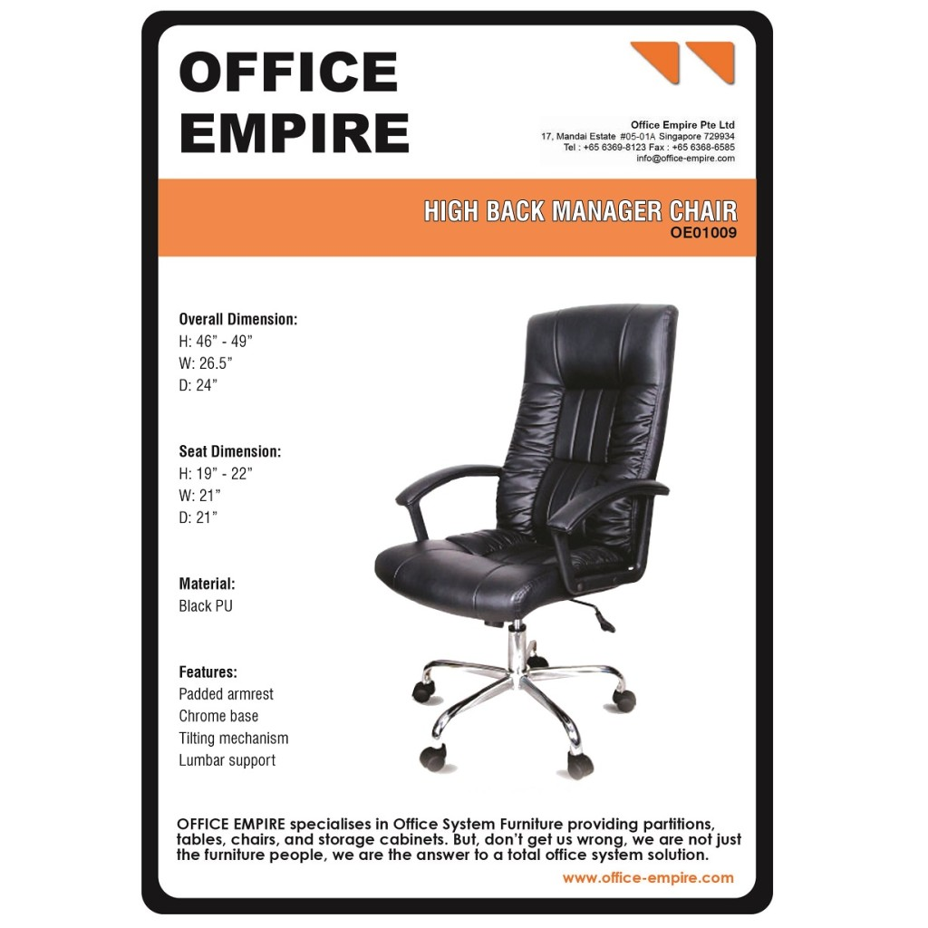 Office Supplies SG office furniture singapore office chairs singapore oe01009