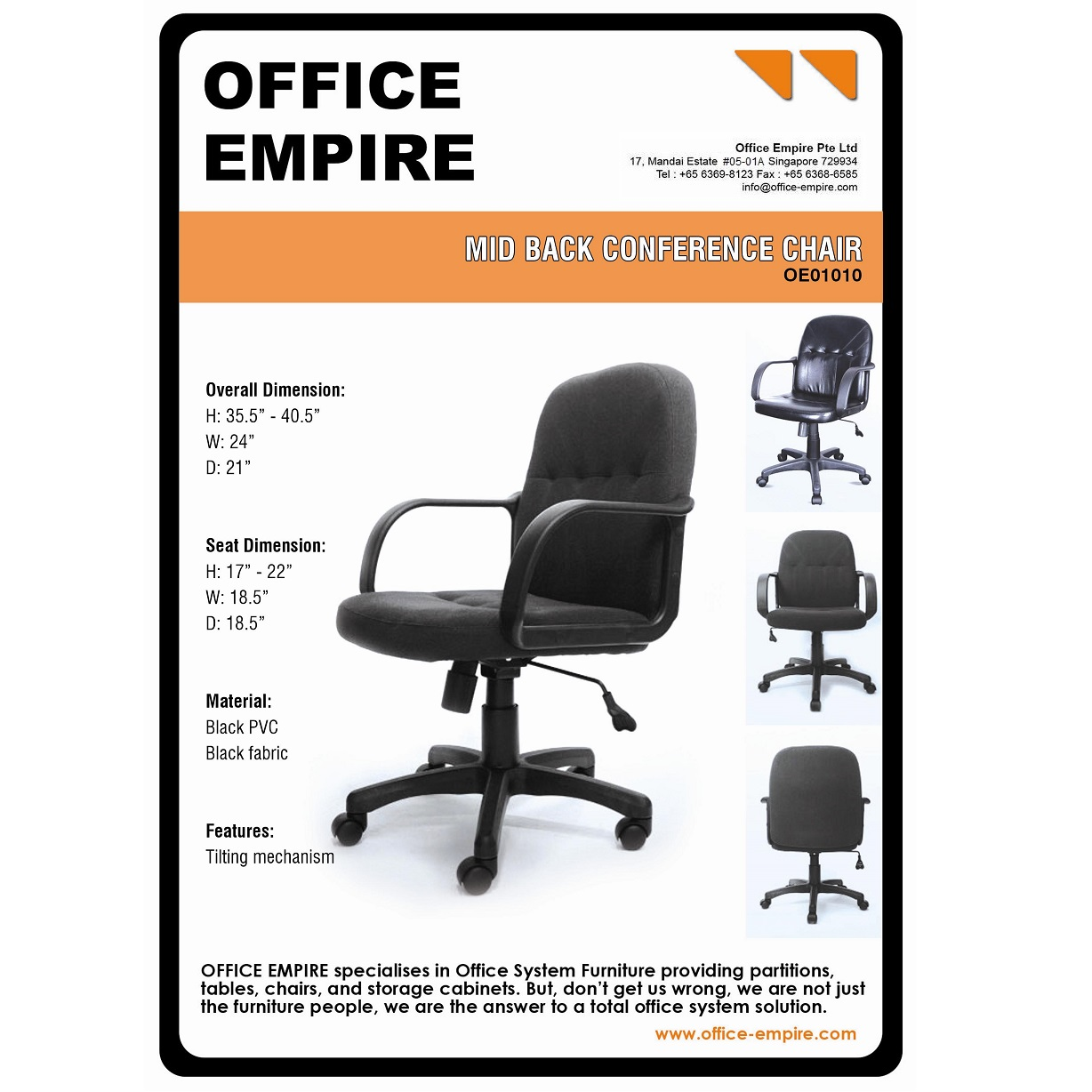 Office Furniture Singapore Office Chairs Singapore Oe01010
