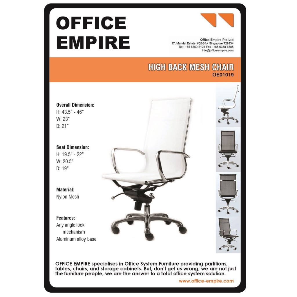 office furniture singapore office chairs singapore oe01019