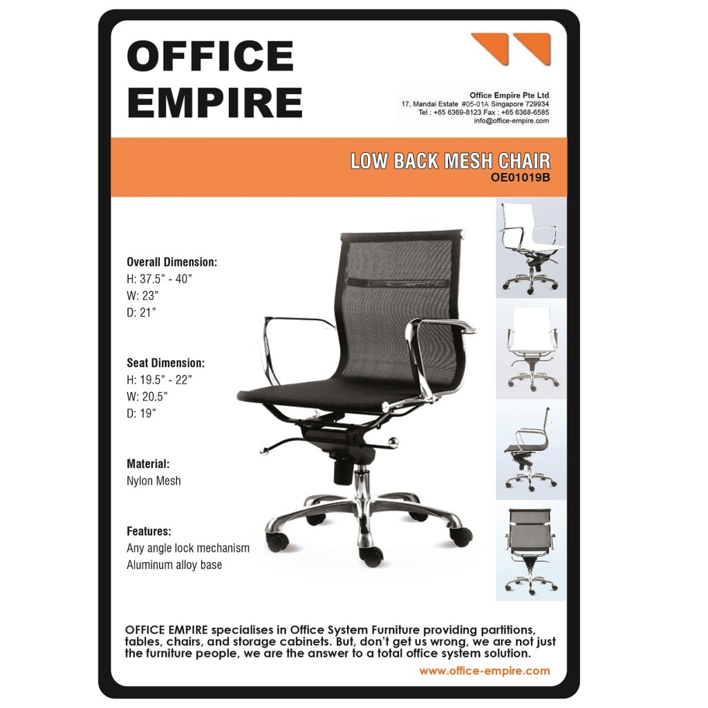 Full Mesh Chair Singapore office furniture singapore office chairs singapore oe01019B
