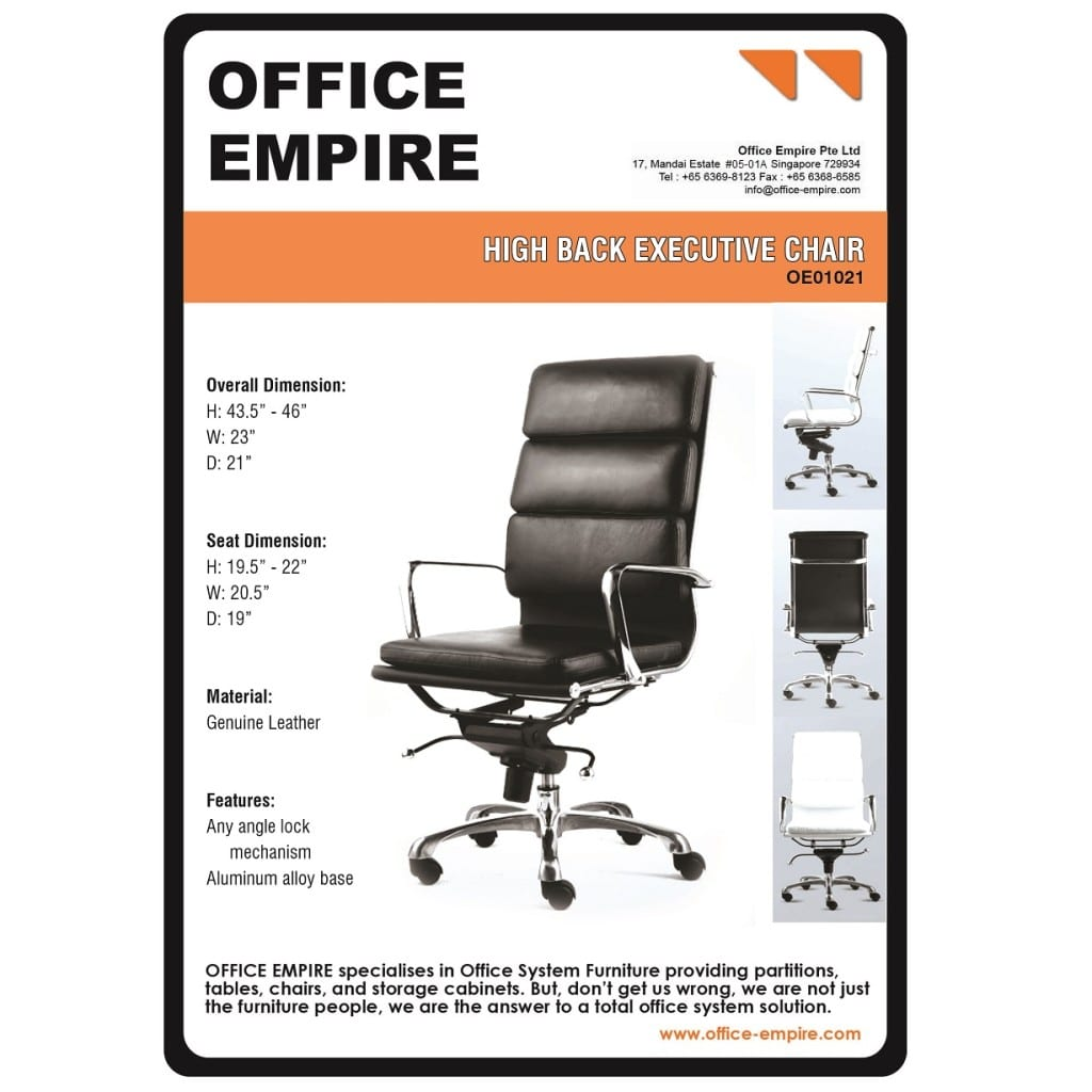 Leather Office Furniture office furniture singapore office chairs singapore oe01021
