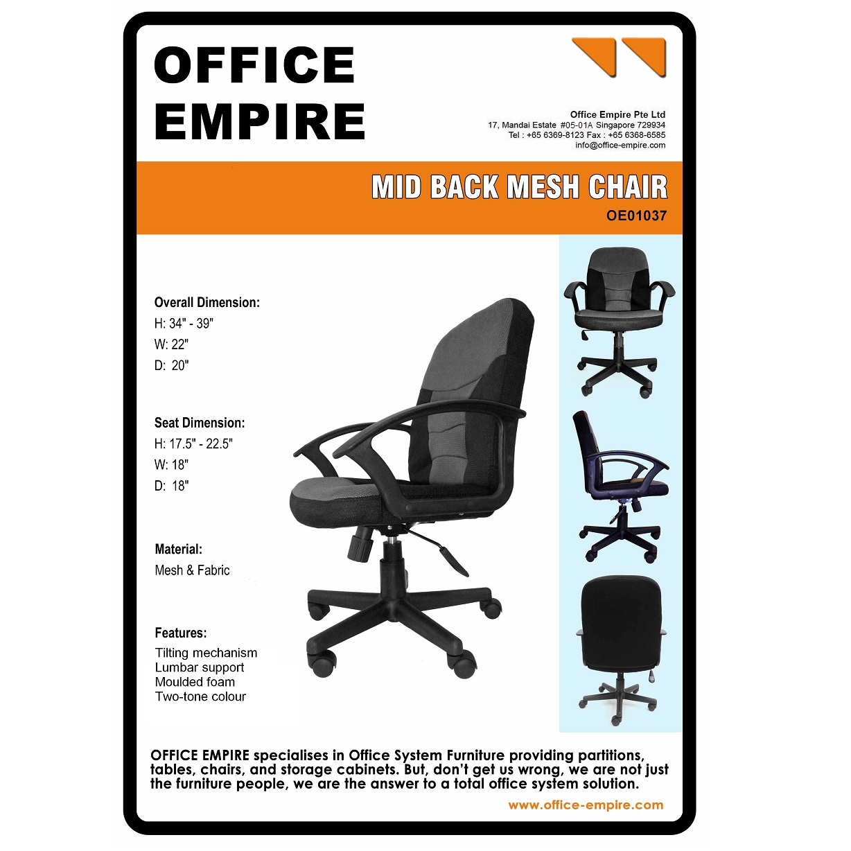 Office Chairs Singapore | Office Furniture Supplier in Singapore