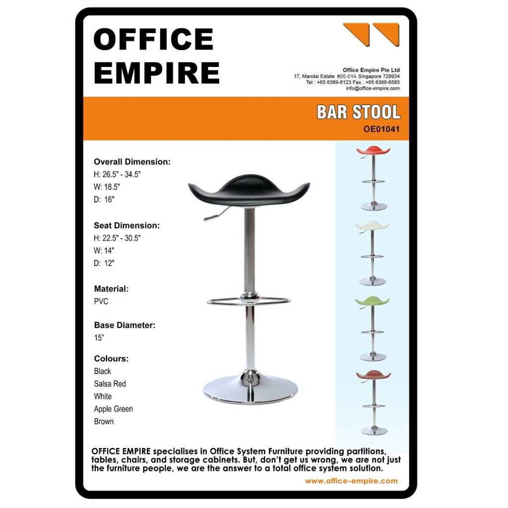 Barstool office furniture singapore office chairs singapore oe01041