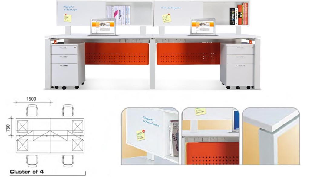 office furniture singapore office partition 28mm Office Cubicle 10