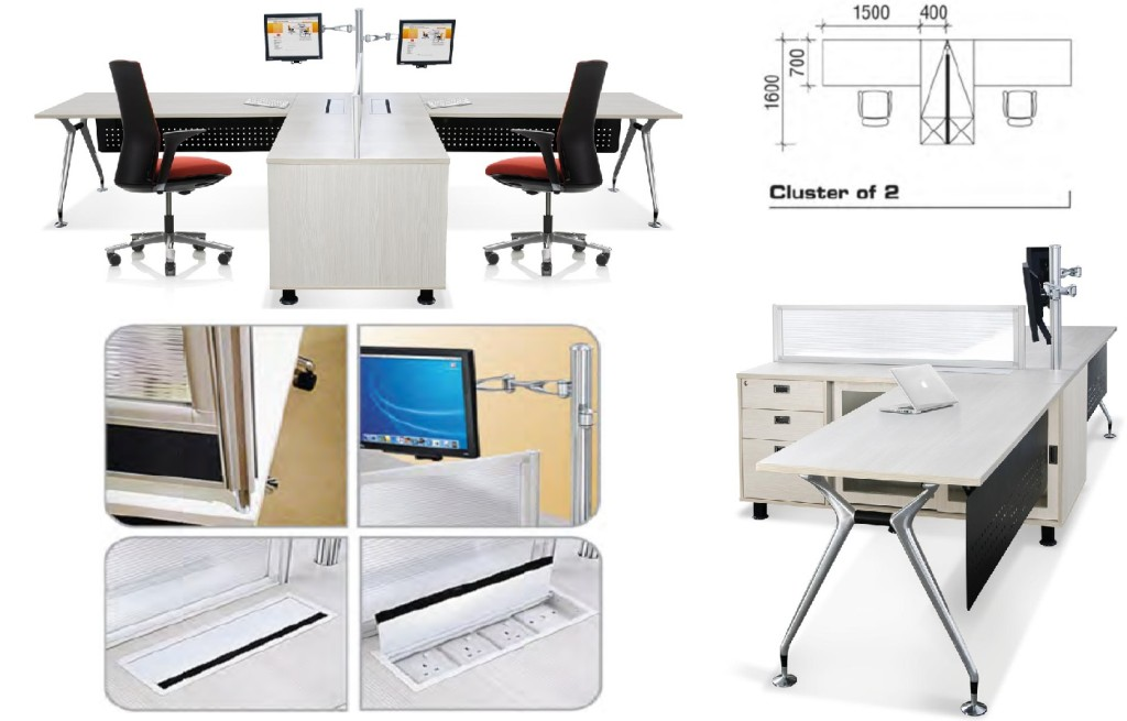Modern Office Cubicle office furniture singapore office partition 28mm Office Cubicle 12