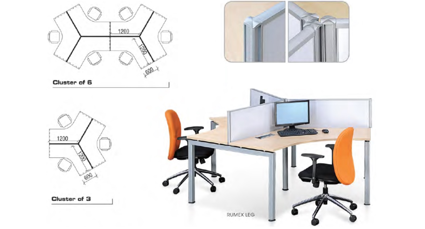 Office Furniture Singapore Partition 28mm Cubicle 14