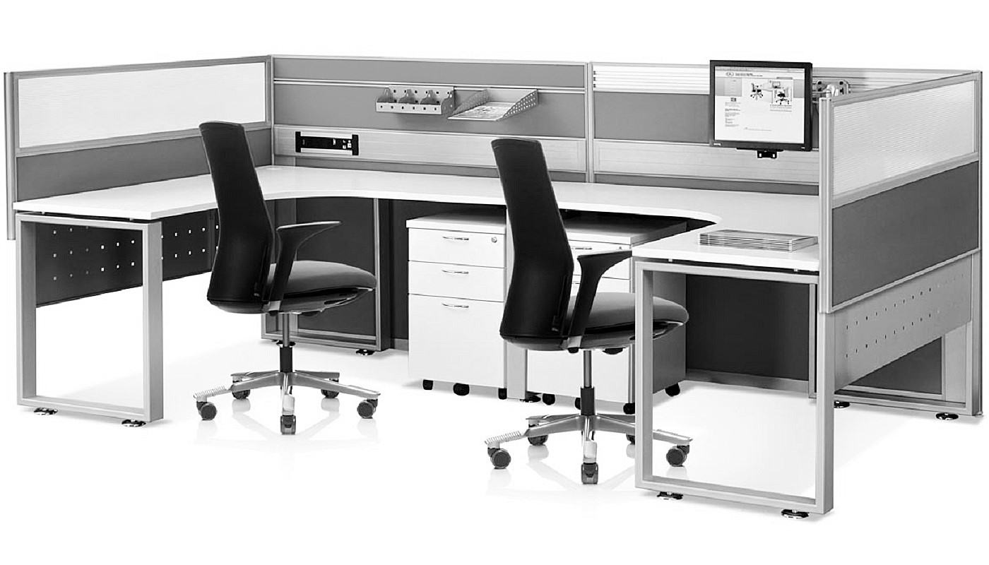office furniture singapore office partition 28mm Office Cubicle 24 (2)