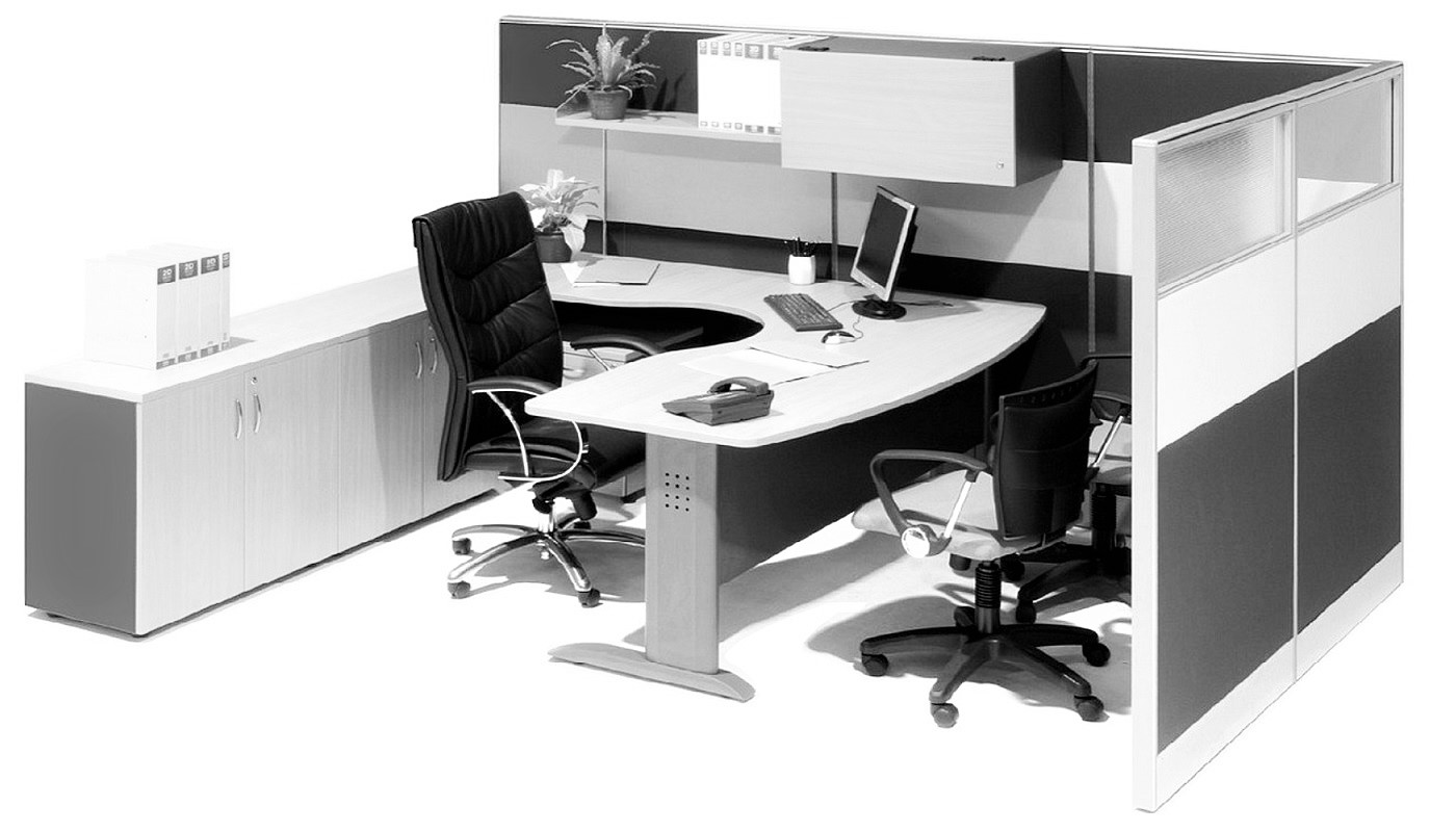 office furniture singapore office partition 28mm Office Cubicle 55 (2)