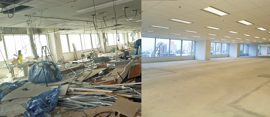 office renovation services - office reinstatement work