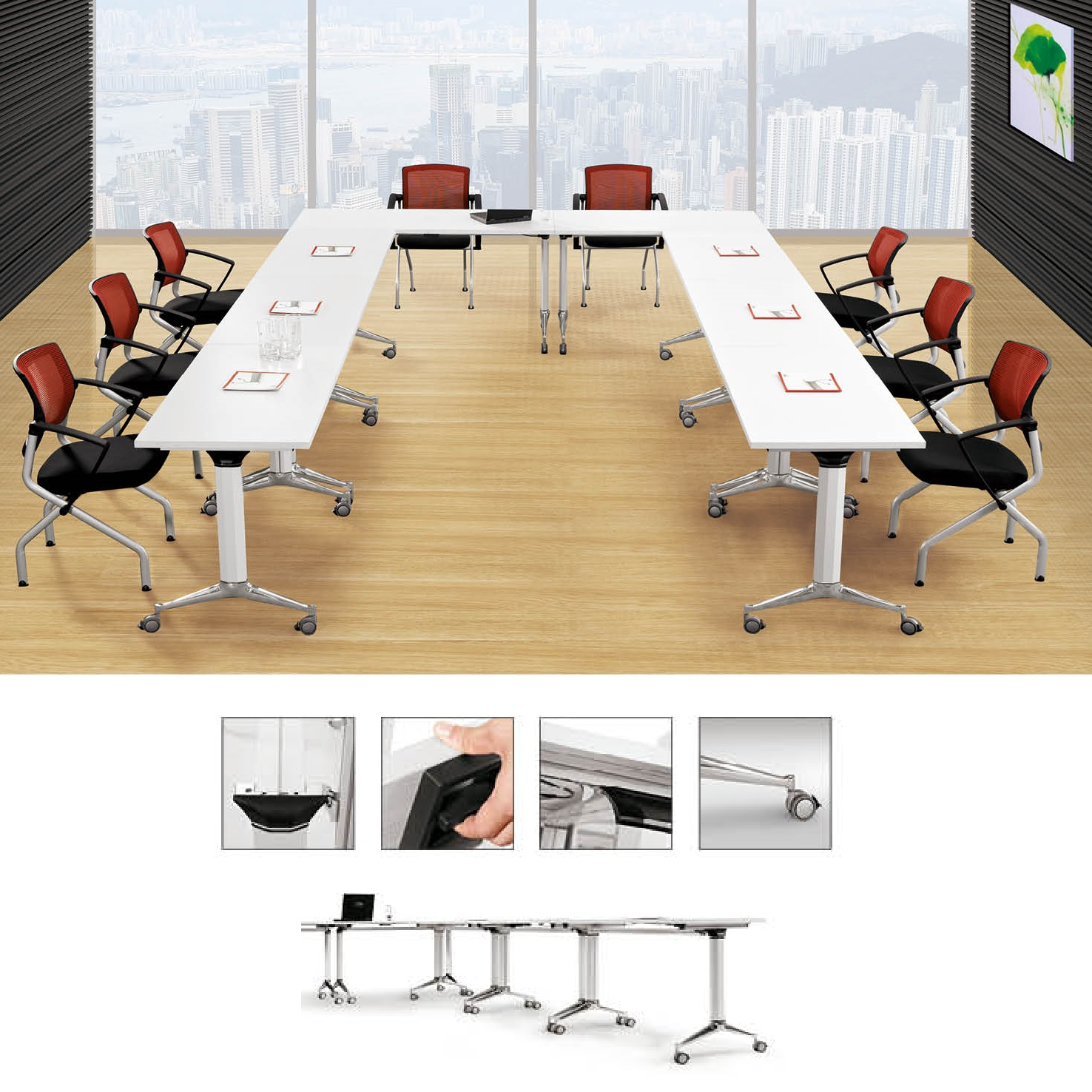 Excellent Foldable Office Table Foldable Desk And Tables For Offices Download Free Architecture Designs Embacsunscenecom