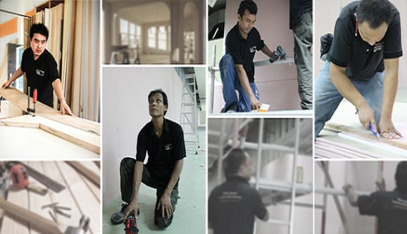 office carpentry works office renovation singapore