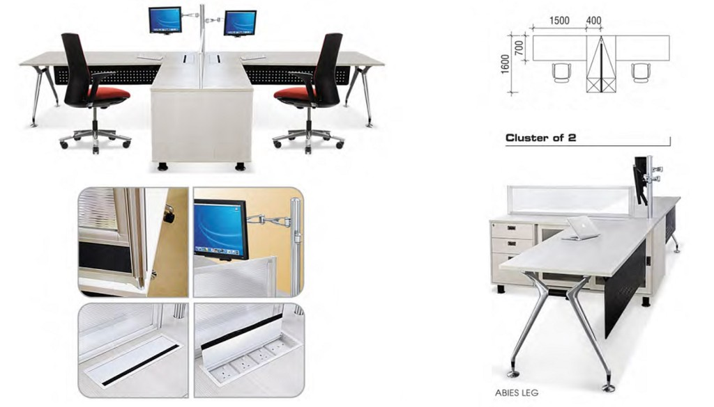 office furniture singapore Abies Working table Set 1