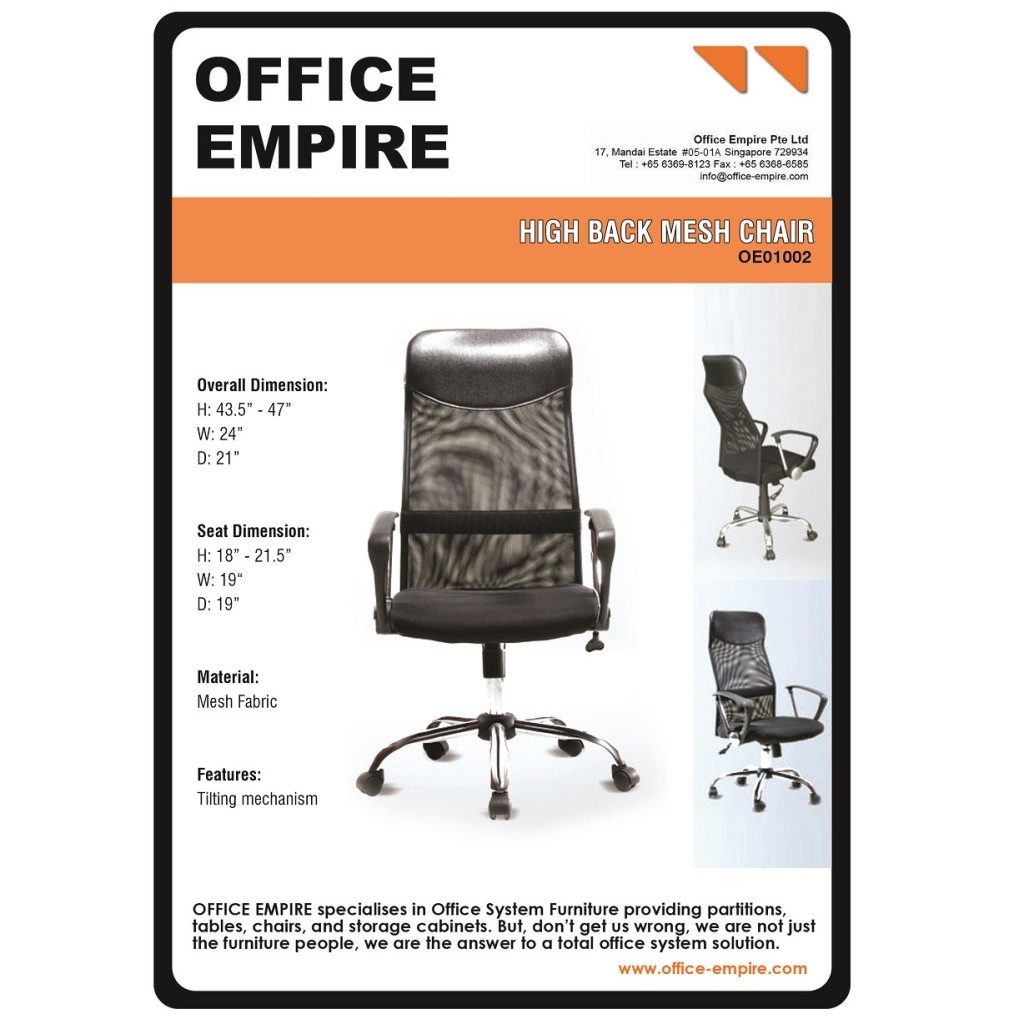 Director Chair Singapore office furniture singapore office chairs singapore oe01002