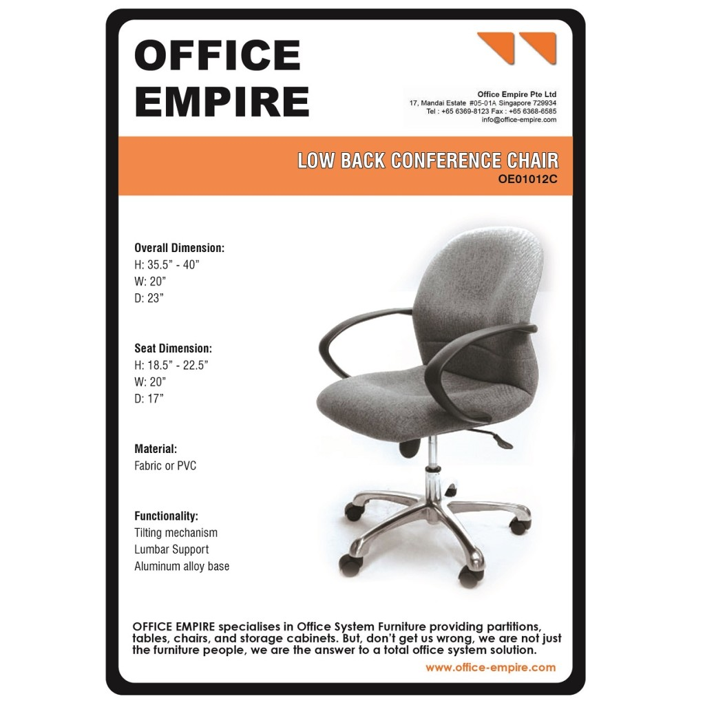 Office Conference Chair Singapore office furniture singapore office chairs singapore oe01012C