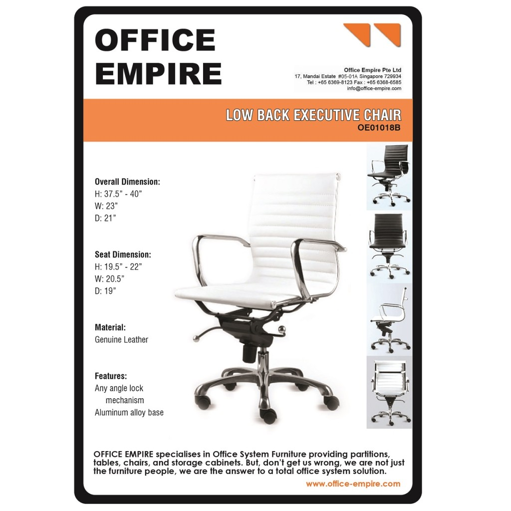 White Office Chair Singapore office furniture singapore office chairs singapore oe01018B