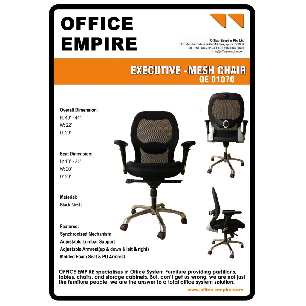 Best Ergonomic Chair Singapore office furniture singapore office chairs singapore oe01070