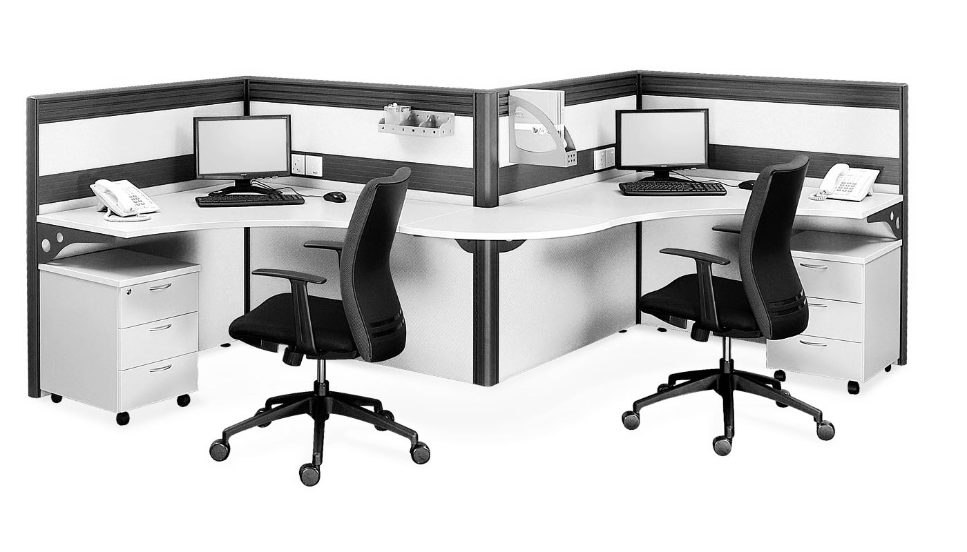 office furniture singapore office partition 28mm Office Cubicle 31 (2)