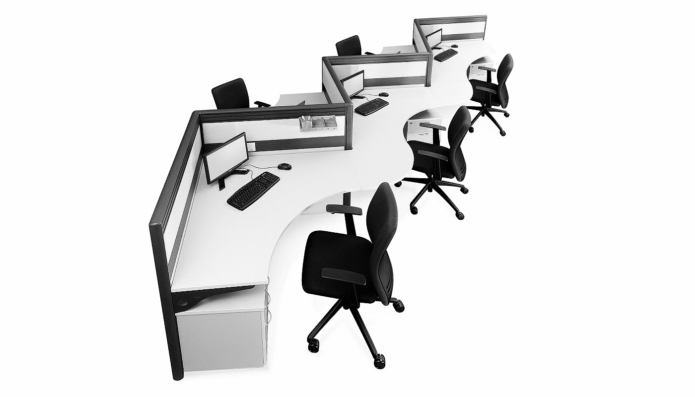 office furniture singapore office partition 28mm Office Cubicle 33 (2)