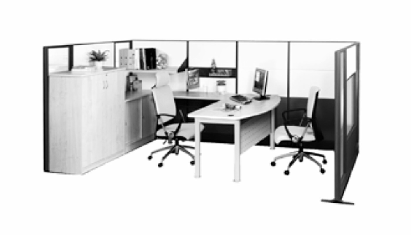 office furniture singapore office partition 28mm Office Cubicle 39 (2)