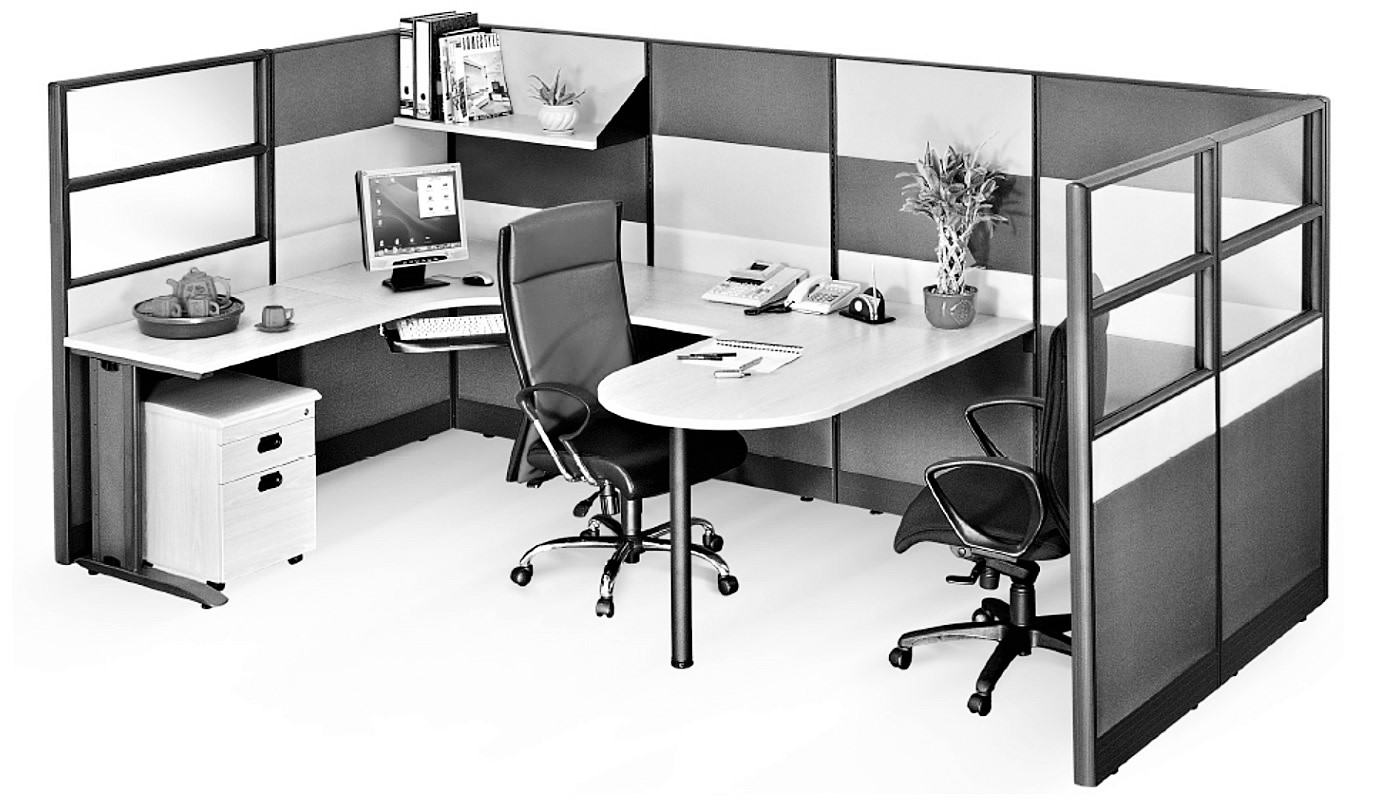 office furniture singapore office partition 28mm Office Cubicle 42 (2)
