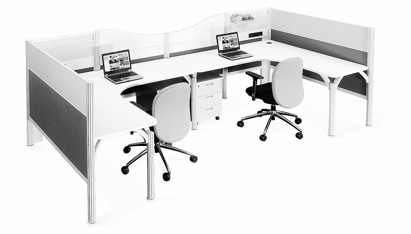 office furniture singapore office partition 28mm Office Cubicle 44 (2)