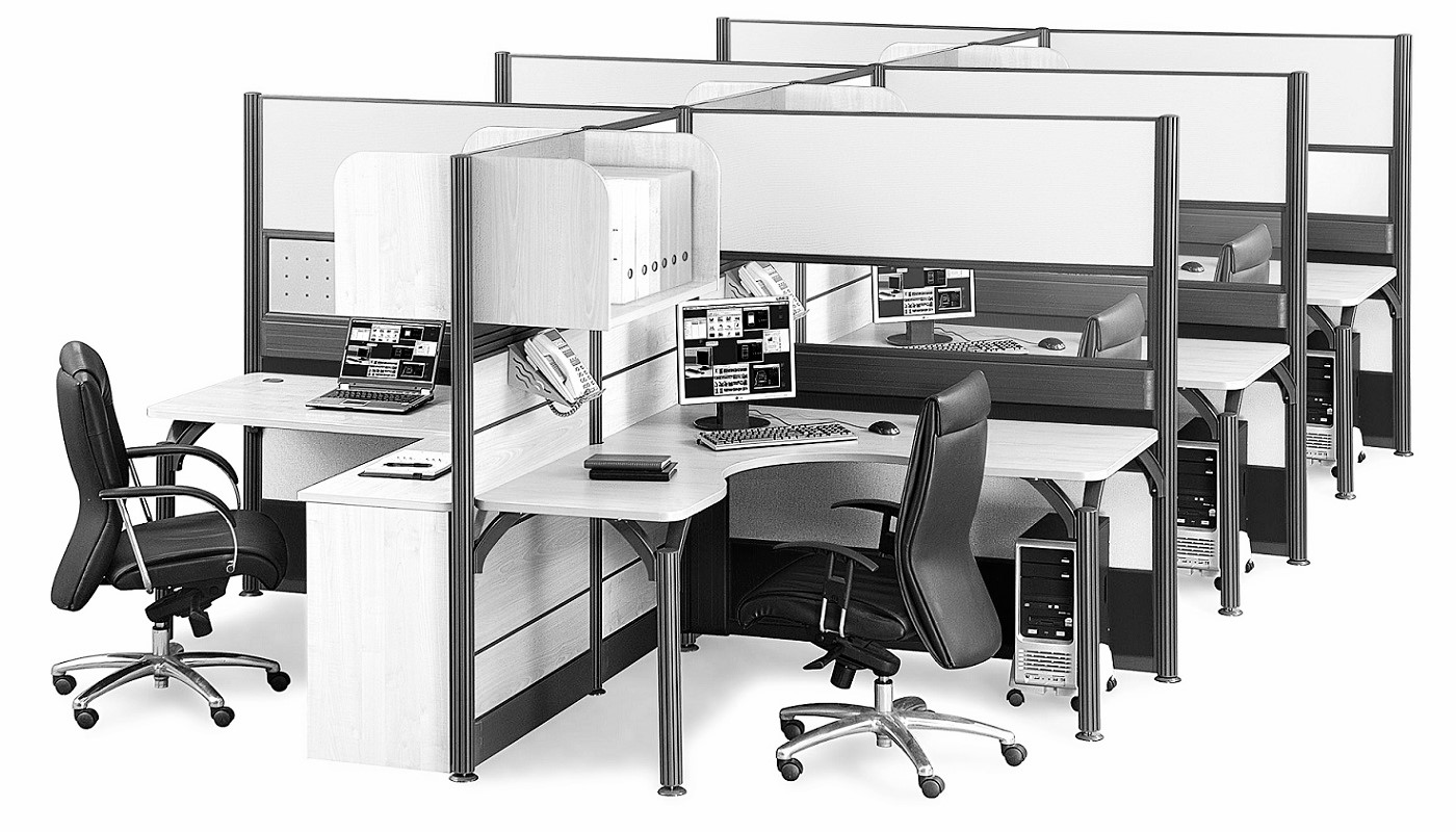office furniture singapore office partition 28mm Office Cubicle 46 (2)