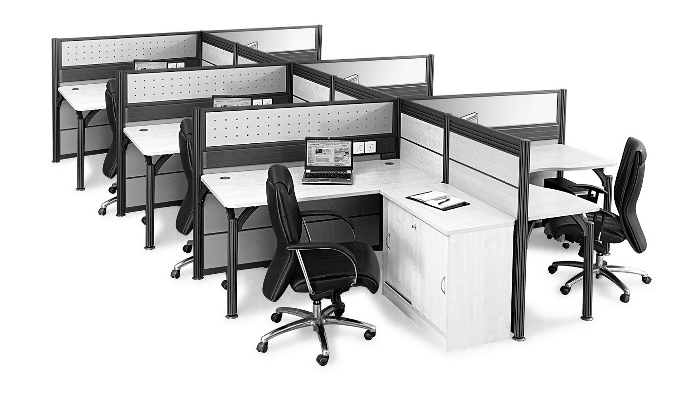 office furniture singapore office partition 28mm Office Cubicle 48 (2)