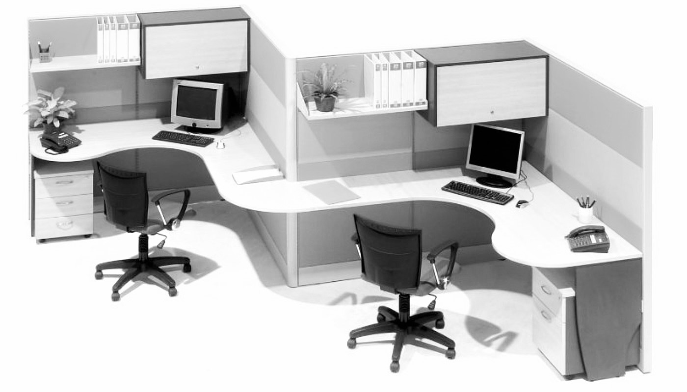 office furniture singapore office partition 28mm Office Cubicle 53 (2)