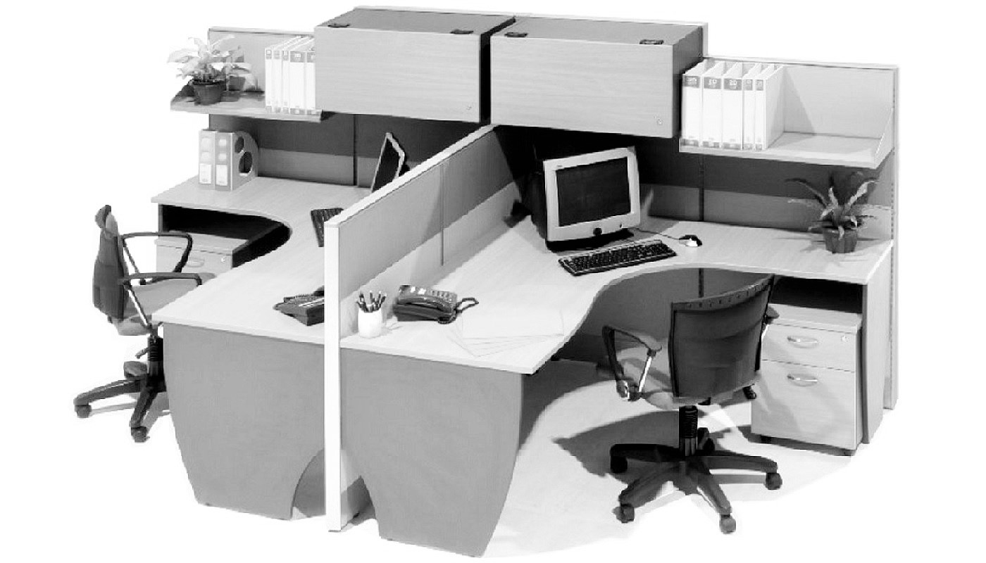 office furniture singapore office partition 28mm Office Cubicle 57 (2)