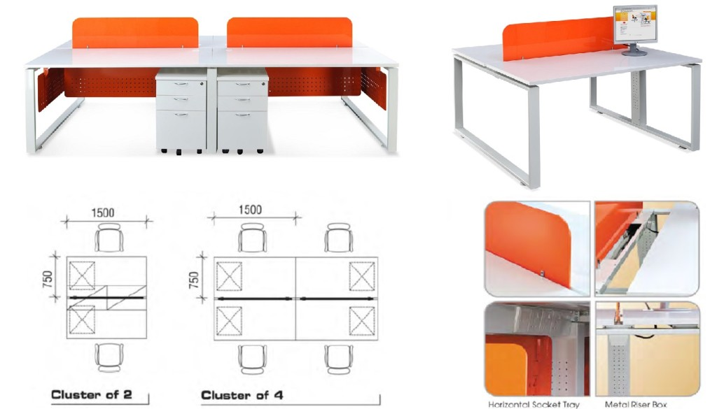 Metal Office Furniture SG office furniture singapore office partition 28mm Office Cubicle 6