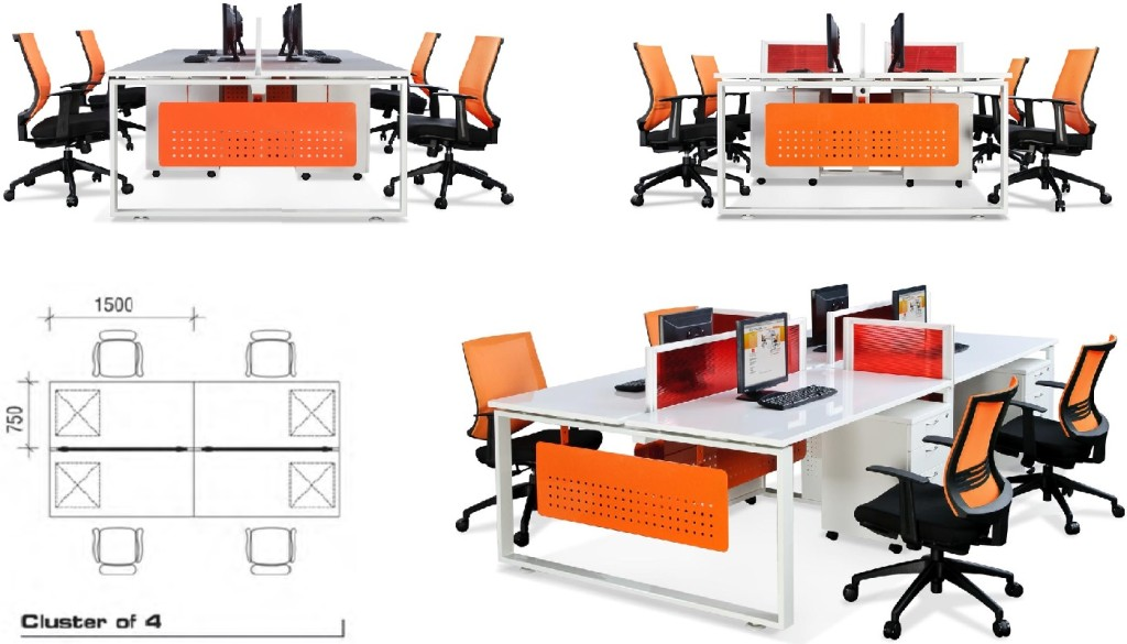 French Office Furniture office furniture singapore office partition 28mm Office Cubicle 8