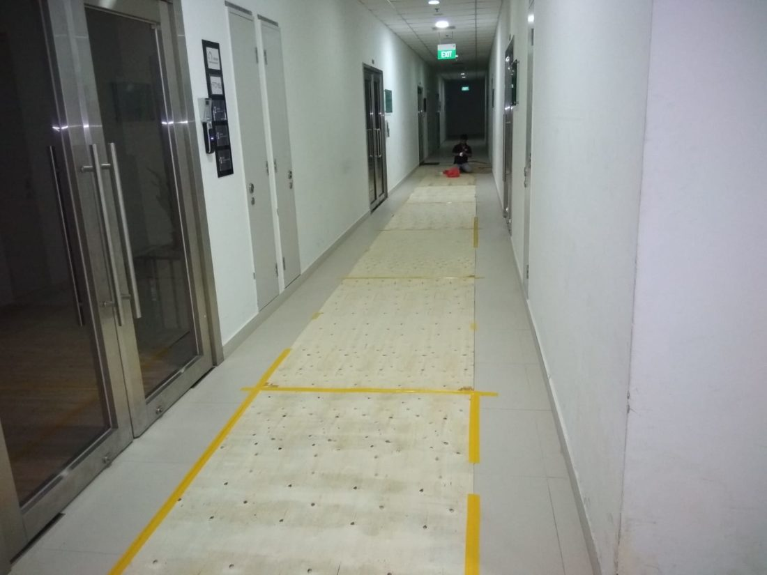 Floor Protection for New Office Renovation