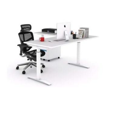 L-Shape adjustable height table height adjustable table office furniture