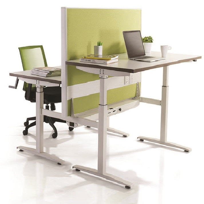 Rectangle manual adjustable height table height adjustable table office furniture singapore