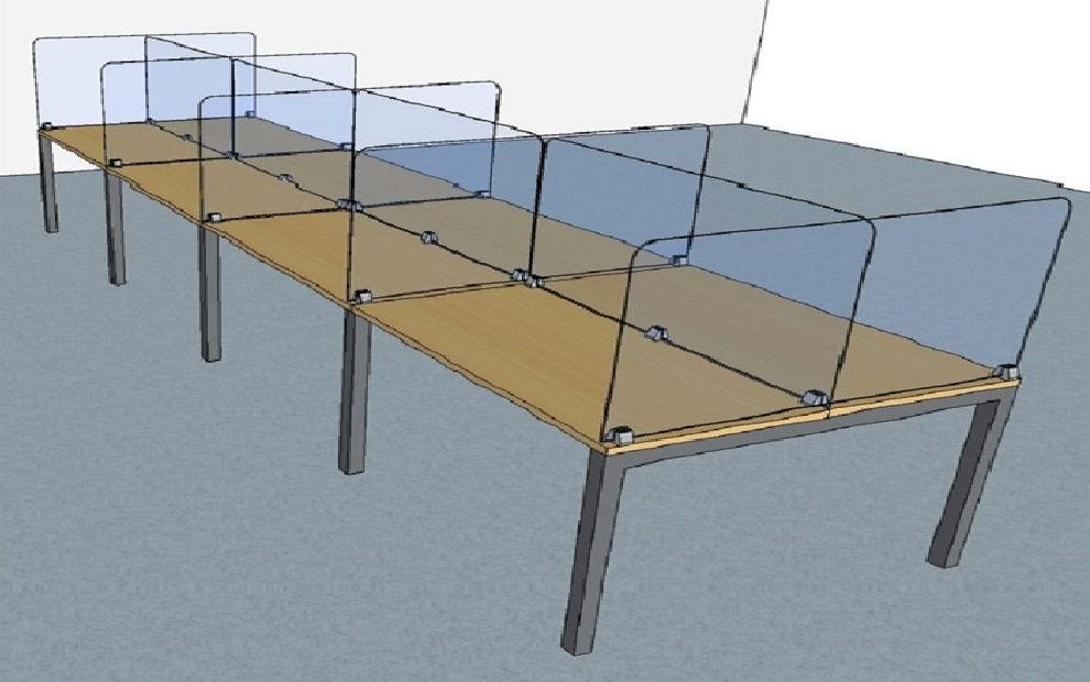 office-furniture-singapore-Acrylic-Table-Divider-1
